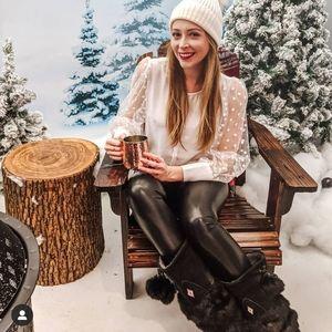 Aritzia Wilfred Daria leather like leggings - XS